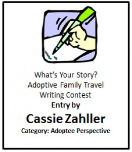Cassie Zahller Adoptive Family Travel Contest